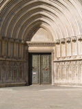 Portal of old cathedral Stock Photography