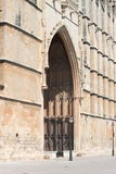Portal of Palma de Mallorca cathedral. Entrance portal of Palma de Mallorca cathedral, Spain Stock Photos