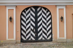 Portal in Peter and Paul Fortress in Saint Petersburg Stock Images