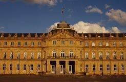 Portal principal del nuevo castillo en Stuttgart Fotografía de archivo