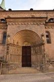 Portal przy Cesarską katedrą w Bamberg, Niemcy fotografia royalty free