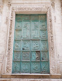 Portal of Purgatory church. Monopoli. Apulia. Stock Image