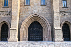 Portal of Roman catholic church Royalty Free Stock Photo