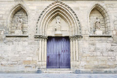 Portal in romanesque church Royalty Free Stock Photo