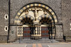 Portal of Sacred Heart Church in Mayen Royalty Free Stock Images