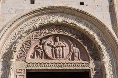 Portal of San Rufino, Assisi Stock Images