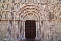 Portal of Santa Maria della Piazza - Ancona Royalty Free Stock Image