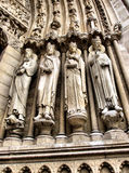 Portal sculptures of Notre Dame cathedral Stock Photography