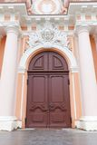 Portal of St. Casimir Church (circa 1749). Vilnius, Lithuania Royalty Free Stock Photography