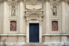 Portal of St. Catherine church and Mausoleum of Ferdinand II, Graz Stock Photos