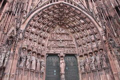 Portal of Strasbourg cathedral Royalty Free Stock Photo