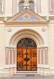 Portal of Sts Cyril and Methodius church (1880). Zagreb, Croatia Stock Photo