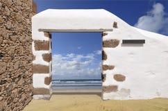 Portal to beach Stock Photos