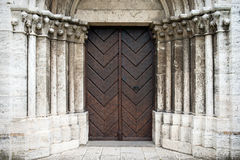Portal to Saint Martin's Cathedral in Spisska Kapitula, Slovakia Royalty Free Stock Photo