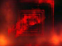 Portal a um outro mundo, portal à escuridão com tema das chamas, o surrealista e da fantasia, fundo abstrato fotografia de stock
