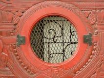Portal vermelho Imagens de Stock