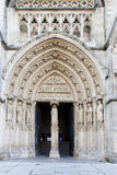 Portal von Chatedral von Bordeaux Stockfotos