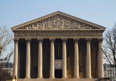 Portal von Eglise de la Madeleine Stockbilder