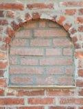 Portal w ściana z cegieł Zdjęcia Royalty Free