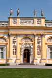 Portal of Wilanow Palace in Warsaw, Poland Royalty Free Stock Photo