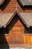 Heddal Stave Church portal Telemark Norway Scandanavia royalty free stock images