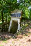 Portal - wulkanu Komorni hurka blisko małego zdroju grodzki Frantiskovy Lazne Franzensbad - republika czech Zdjęcie Stock