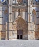 Portal y entrada del monasterio de Batalha Foto de archivo libre de regalías