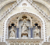 Portal of the Zagreb cathedral Royalty Free Stock Image