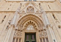 Portal of Zagreb cathedral (XVIII c.). Croatia Stock Photography