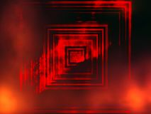 Portale ad un altro mondo, portale ad oscurità con il tema surrealista e di fantasia delle fiamme, fondo astratto fotografia stock