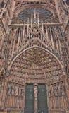 Portale centrale della cattedrale di Strasburgo (1439) Immagini Stock Libere da Diritti