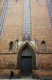 Portale in chiesa gotica Fotografia Stock Libera da Diritti