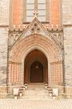 Portale dell'entrata della cattedrale di Myeongdong a Seoul Fotografia Stock