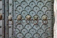 Portale della basilica di Venezia, St Mark con le teste animali in Italia immagini stock libere da diritti
