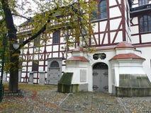 Portale della chiesa di pace in Jawor, Polonia fotografia stock
