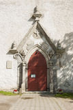 Portale della chiesa luterana Fotografia Stock