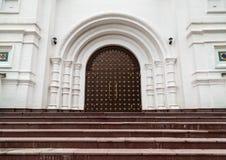 Portale gotico medievale con Fotografia Stock Libera da Diritti