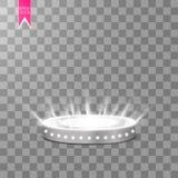 Portale magico della fantasia Futuristico teletrasporti Effetto della luce Raggi luminosi della scena e delle scintille di notte  royalty illustrazione gratis