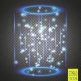 Portale magico di fantasia Futuristico teletrasporti Effetto della luce illustrazione vettoriale