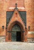 Portale nella chiesa gotica della cattedrale Fotografia Stock Libera da Diritti