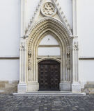 Portale sulla chiesa di St Mark a Zagabria Immagine Stock Libera da Diritti