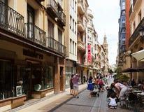 Portales-Straße Logrono, Spanien lizenzfreie stockfotos