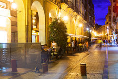 Portales street in evening. Logrono Royalty Free Stock Image