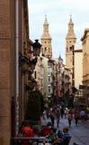 Portales street in Logrono. La Rioja Royalty Free Stock Photography