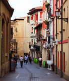 Portales street in Logrono.   Spain Stock Photography