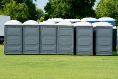 Portaloos Royalty Free Stock Photo