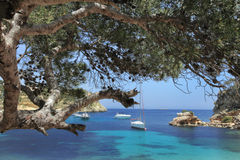 Portals Vells. A small pictorial bay on the island Mallorca, Spain Stock Photography
