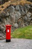 Portapillole reali della posta della cassetta delle lettere rossa con lo spazio della copia, Edimburgo Cas Immagini Stock