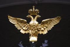 Portar för eremitboningmuseum dekorerade vid dubblett-Eagle, statligt symbol av Ryssland fotografering för bildbyråer