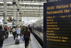 Portar för Waterloo stationsbiljett royaltyfri fotografi